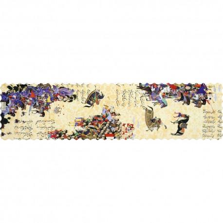 Shakhe tabler runner with Persian pattern 135cm x 35cm code 04