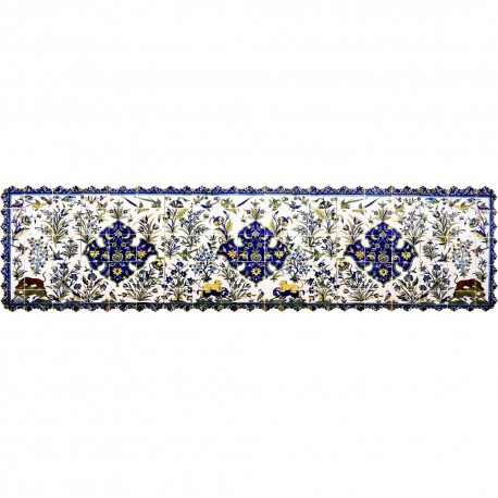 Shakhe tabler runner with Persian pattern 135cm x 35cm code 13