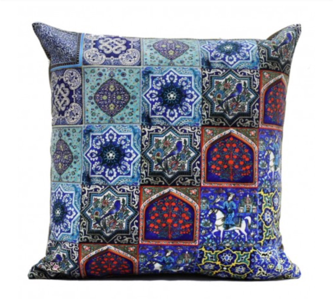 Shakhe Cushion with Persian Pattern (45cm x 45cm) code 02 ONLY COVER