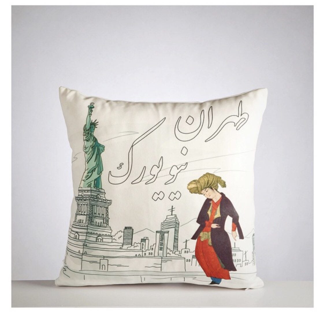 Do Design Cushion Tehran- New York (40cm x 40cm) code 08 ONLY COVER