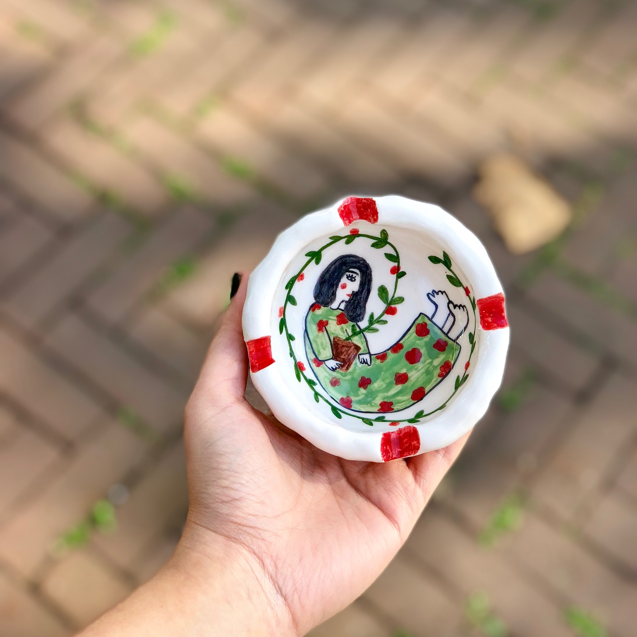 Handmade ceramic ashtray by NamArtcraft شمعدونی