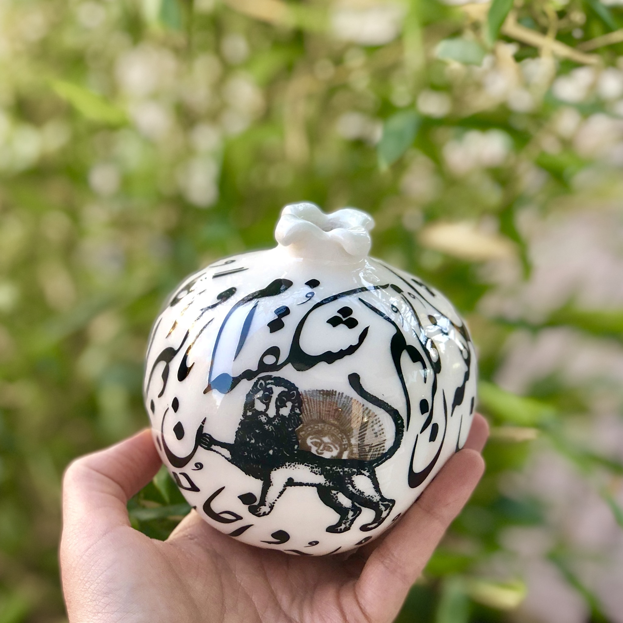 Farjam Handmade pomegranate series - Shir o Khorshid 1