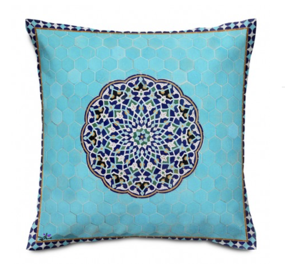 Shakhe Cushion with Persian Pattern (50cm x 50cm) code 14 ONLY COVER