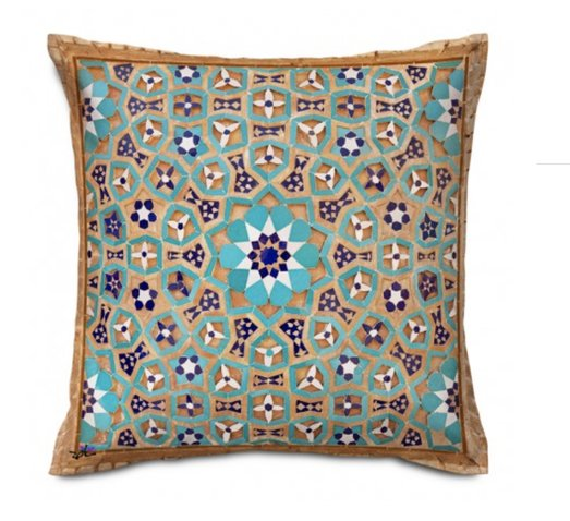 Shakhe Cushion with Persian Pattern (50cm x 50cm) code 12 ONLY COVER