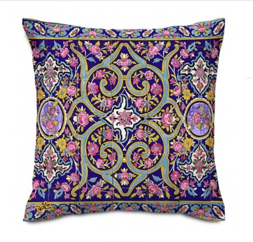 Shakhe Cushion with Persian Pattern (50cm x 50cm) code 13 ONLY COVER