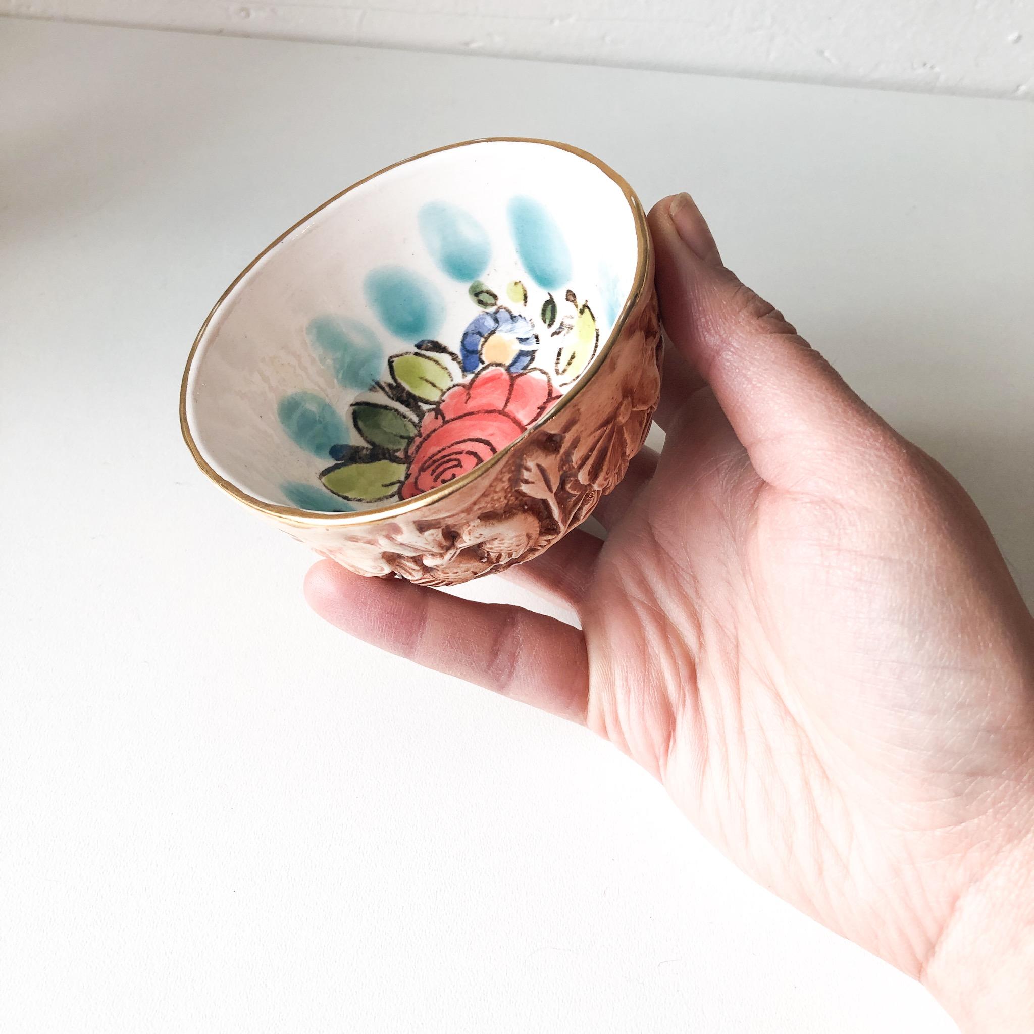 Handmade Rastin bloomy bowl small