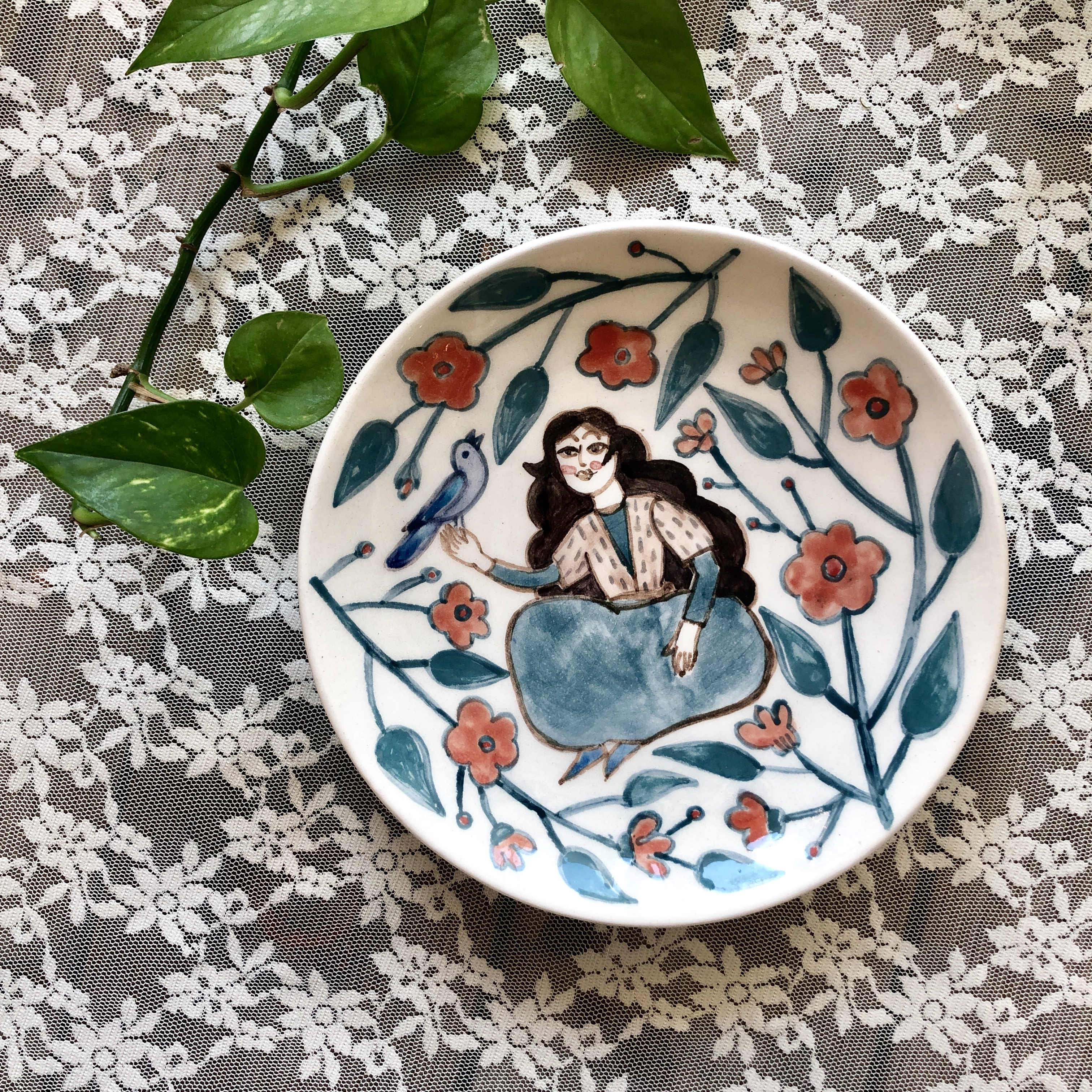 Laleh ArtCraft handmade plate 20 cm avazekhan