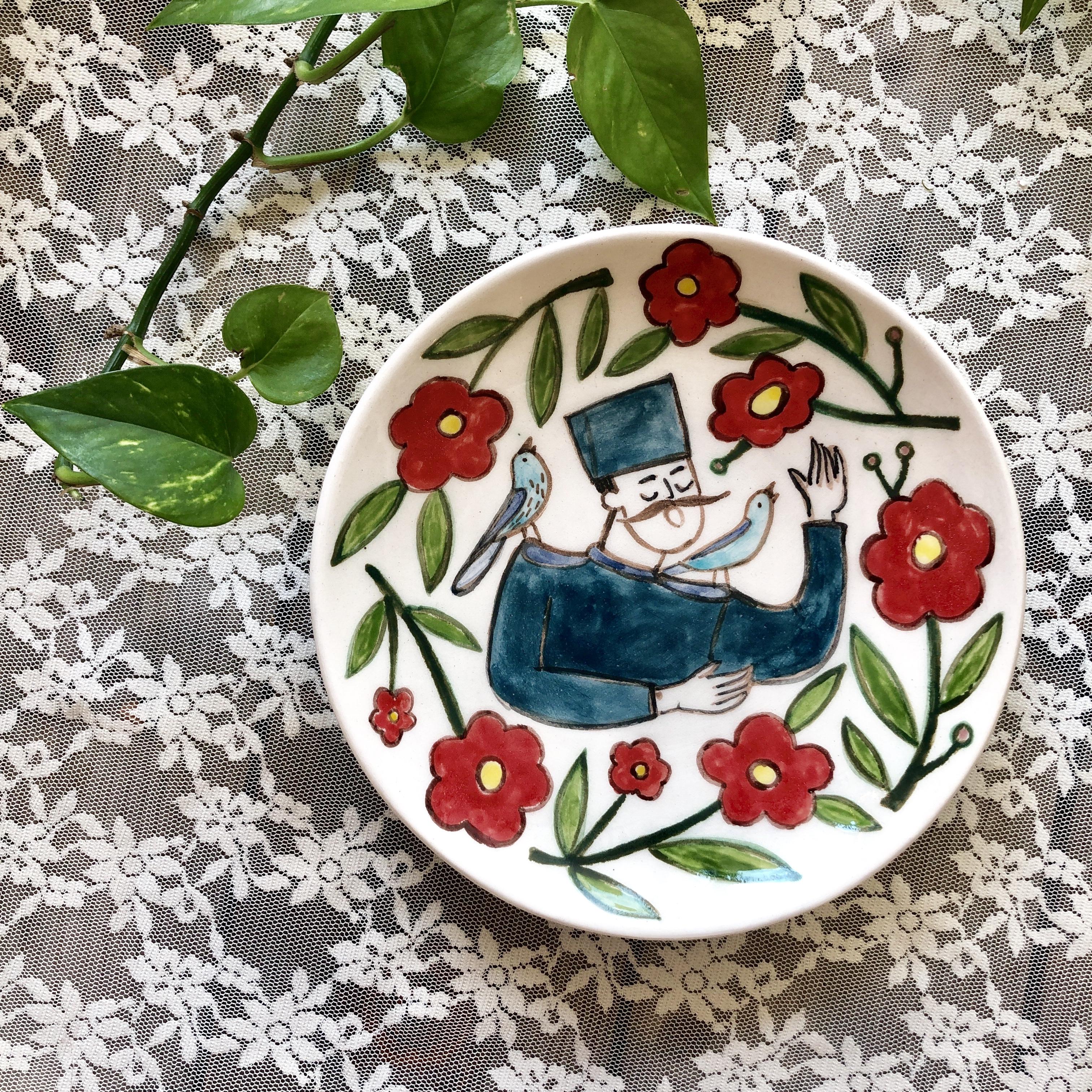Laleh ArtCraft handmade plate 20 cm marde ashegh