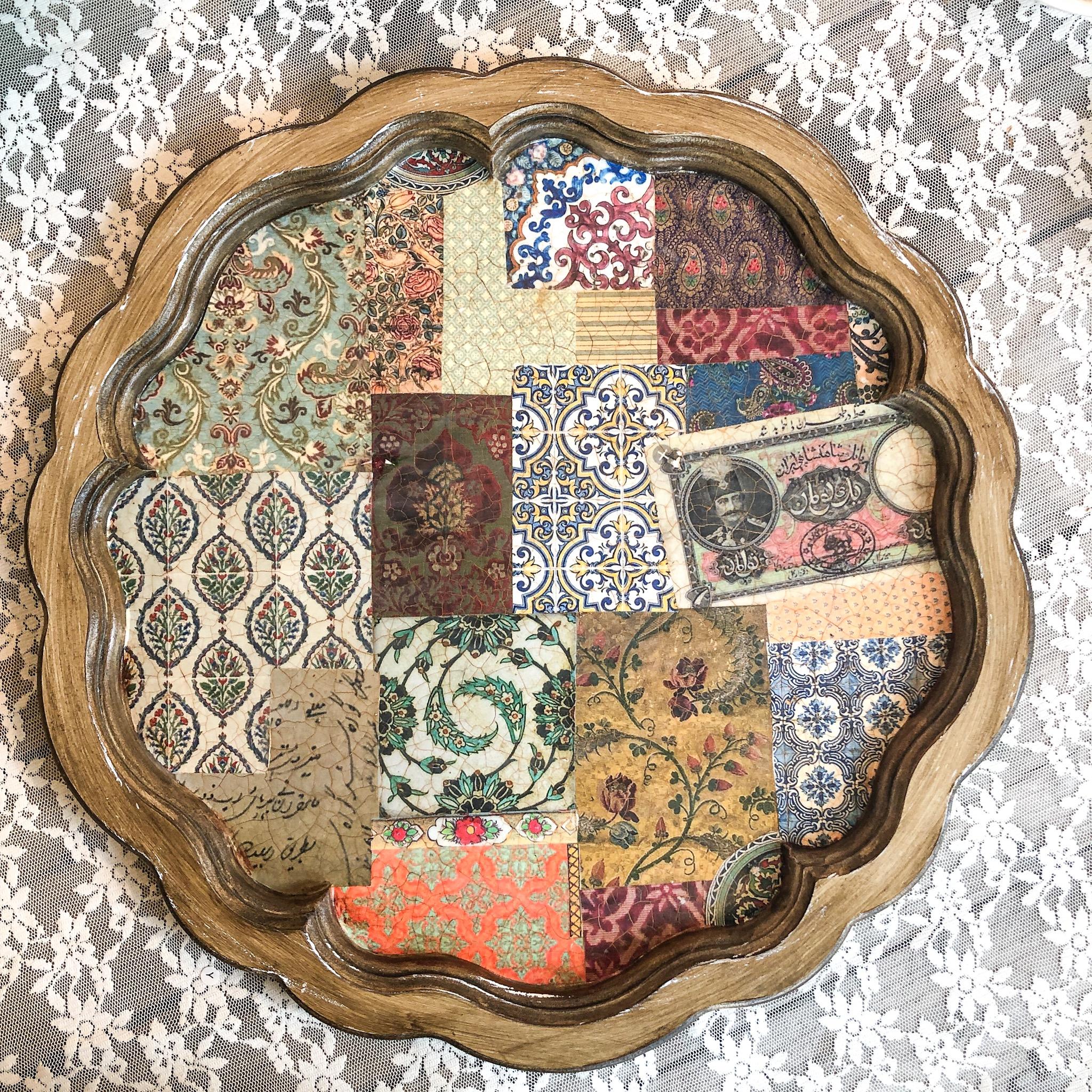Nabat handmade wooden tray dalbor 43 cm eskenas
