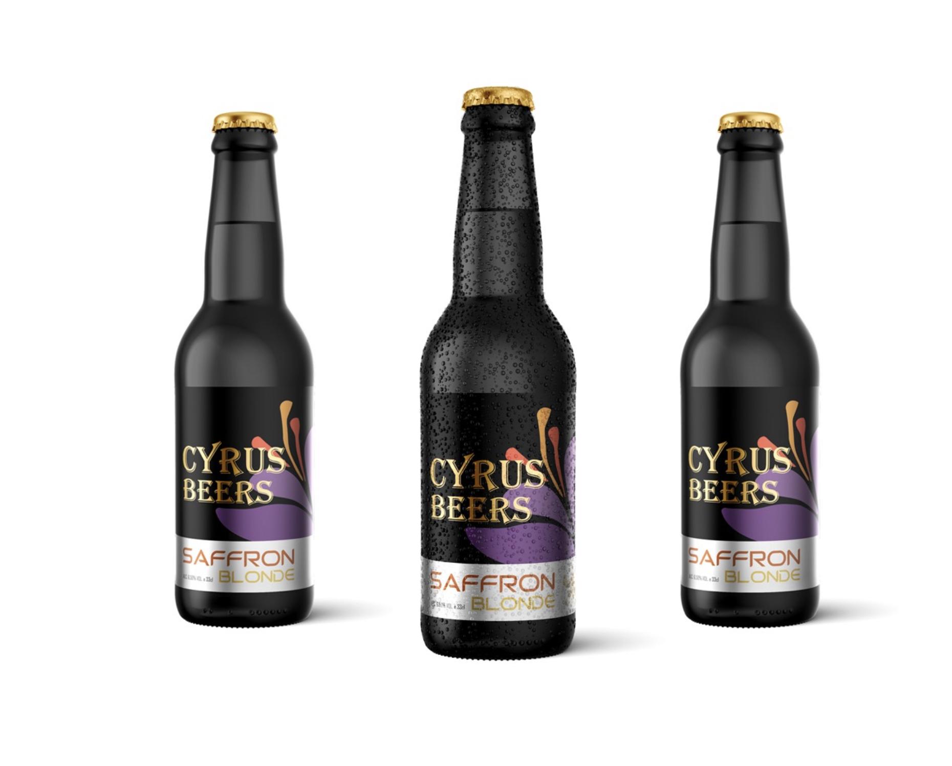 Cyrus Beers - Saffron Blonde -Belgian Style Beer & Persian Saffron