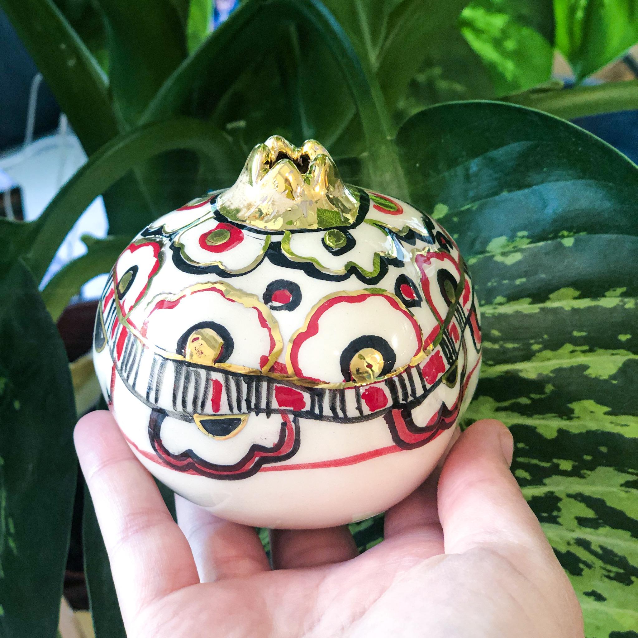 Miranaam handmade and hand painted pomegranate series - code 05