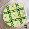 Wall decoration plates from 25 cm to 5 cm Green yellow