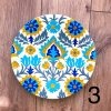Wall decoration plates from 25 cm to 5 cm turquoise