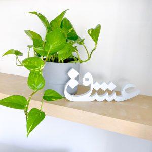 Eshgh (Love) Decorative Persian Word - MDF (30 x 12 cm)