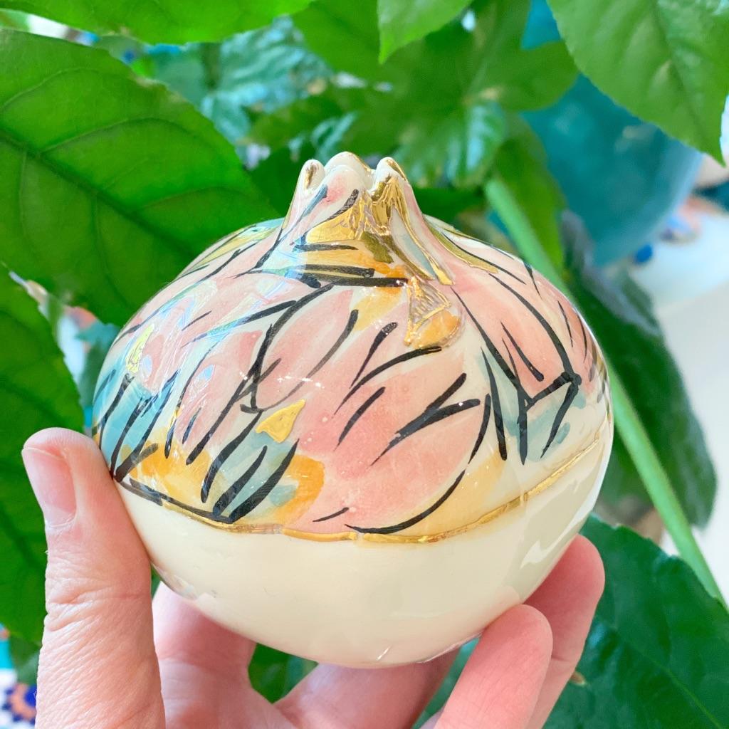 Miranaam pomegranates (hand-painted)10 cm code 07