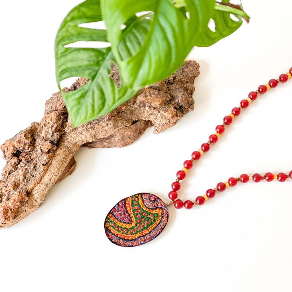 Flora Art Handmade Pateh Necklace code 01