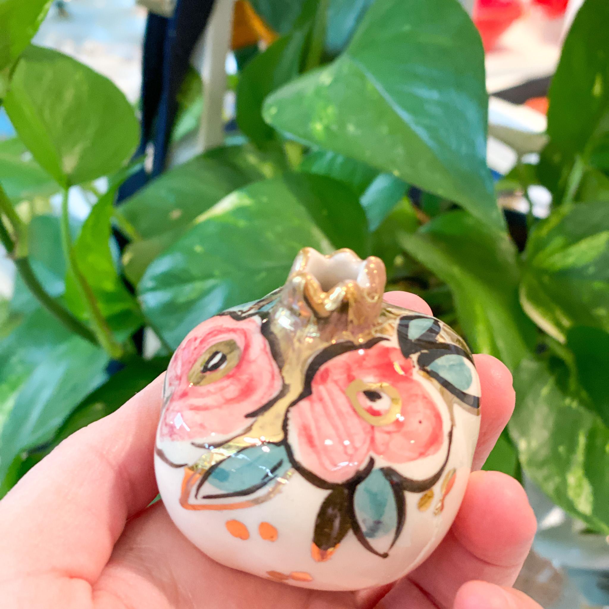 Miranaam pomegranates (hand-painted)7 cm code 03