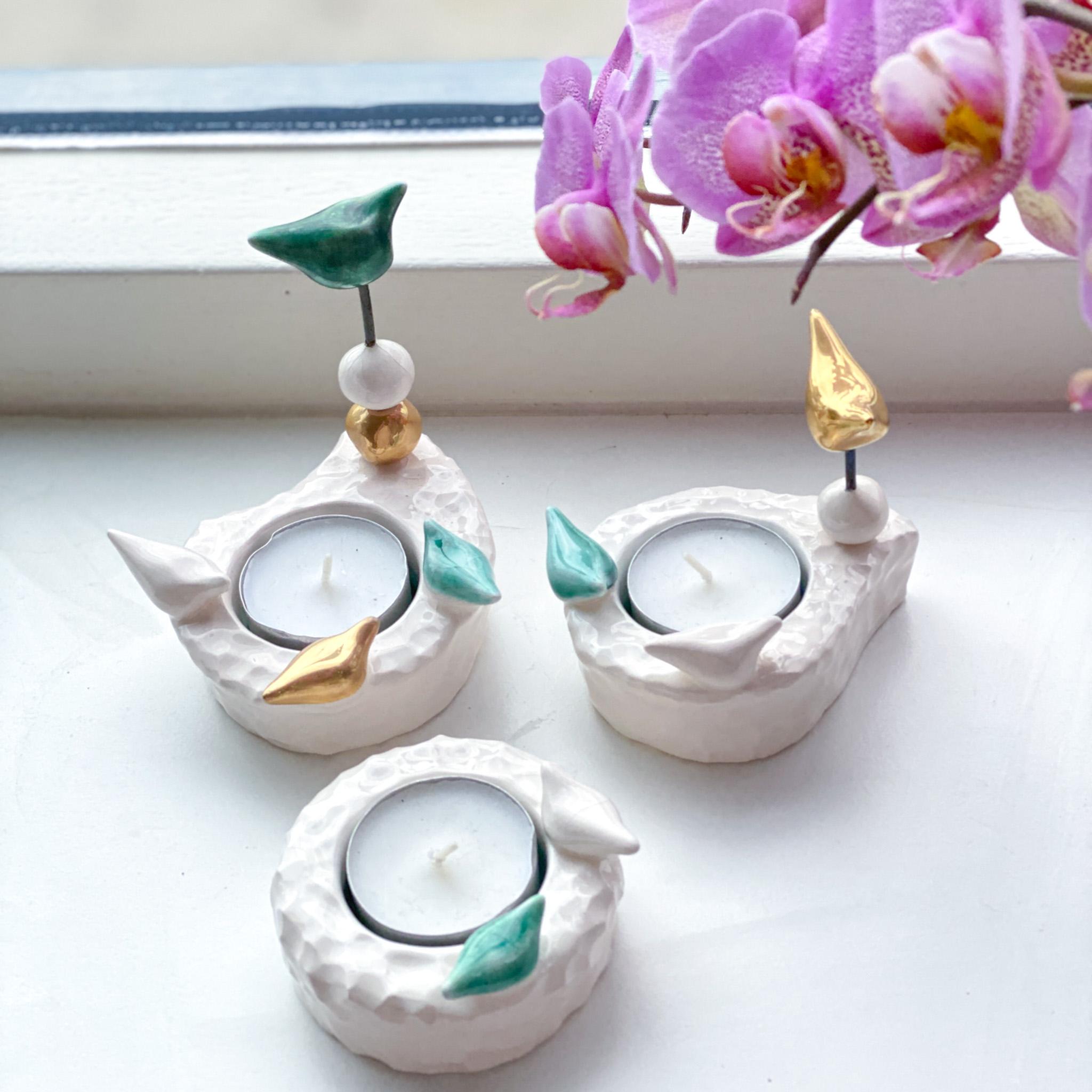 Farnegar handmade candelabras Green( available in 3 sizes)