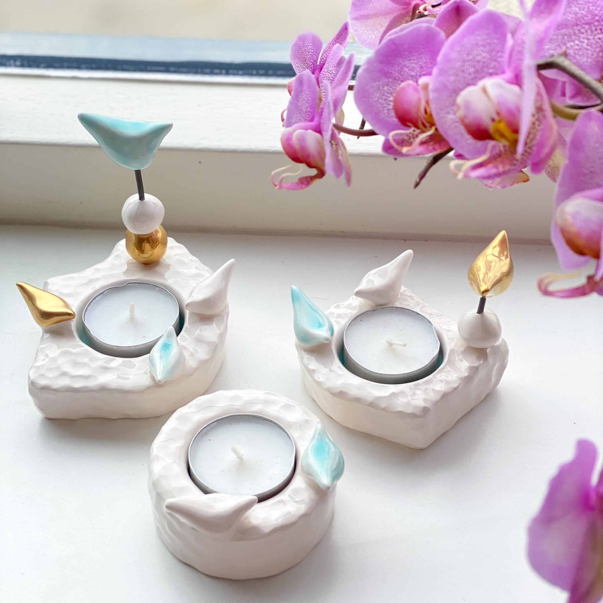 Farnegar handmade candelabras Blue( available in 3 sizes)